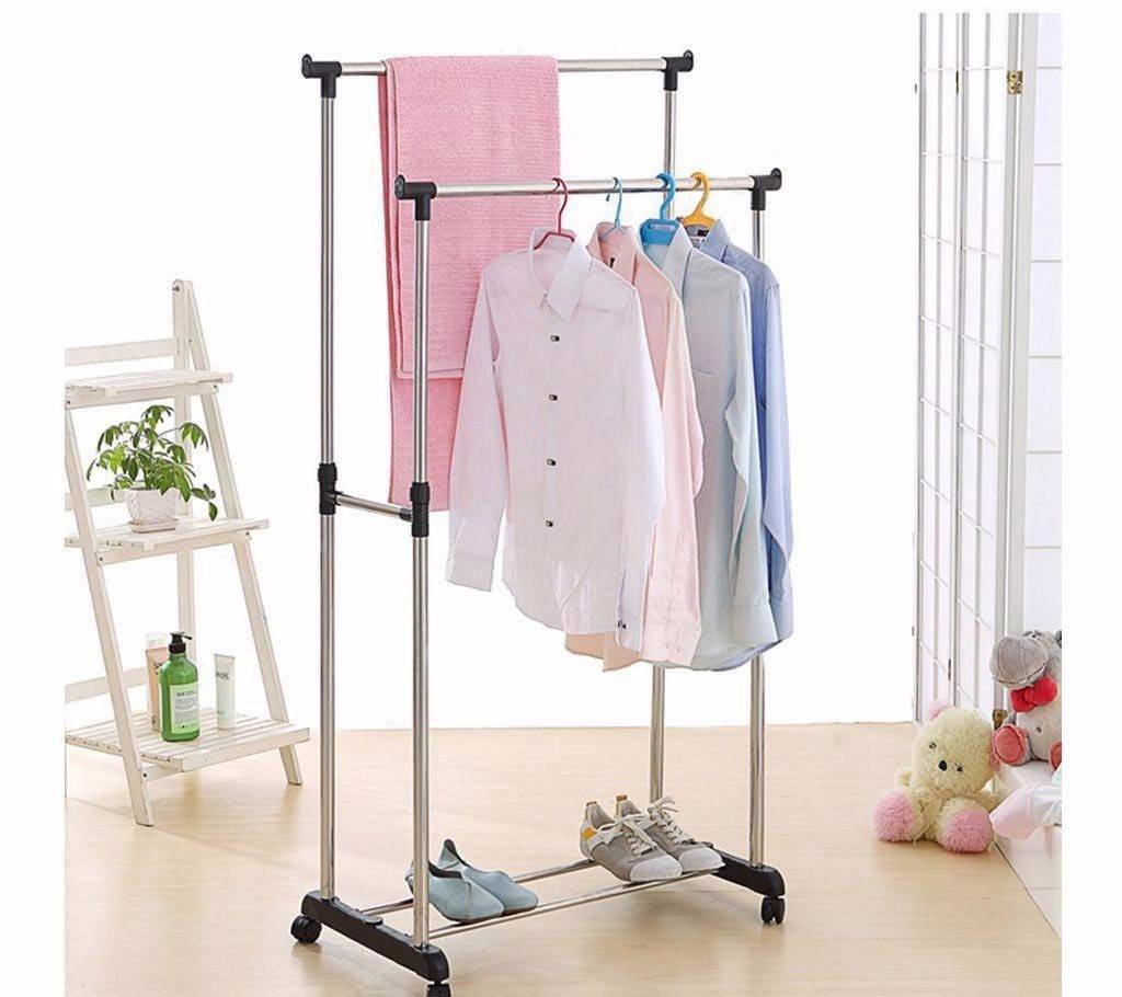 two layers clothes hanging stand