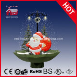 cute santa claus toy decorative christmas gifts with snow