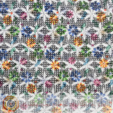 french chemical printing micro fiber lace fabric
