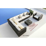 pe rattan modern outdoor leisure patio garden sofa