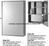 stainless steel mirror cabinet with one door