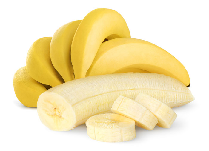ripe banana with yellow colour